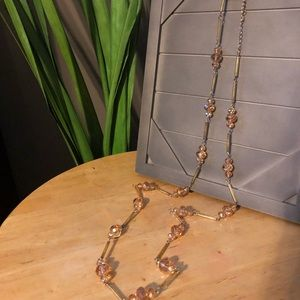 Champagne Topaz Long Necklace